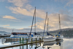 Boote auf Windermere Stockbilder