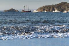 Boote in Bahia-Cocos in Costa Rica Lizenzfreie Stockfotos