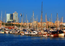 Boote in Barcelona Lizenzfreies Stockfoto