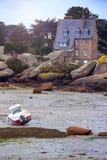 Boote bei Ebbe Stockbild