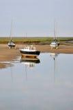 Boote bei Ebbe Lizenzfreie Stockbilder