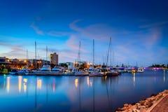 Boote bei Glenelg, Stadt von Holdfast Bucht, Süd-Australien Stockfotografie