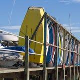 Boote bei Leigh auf Meer Stockfotografie