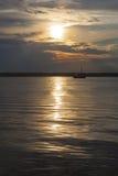 Boote bei Sonnenuntergang Lizenzfreies Stockfoto