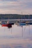Boote in Boothbay-Hafen Lizenzfreies Stockfoto