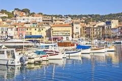Boote in Cassis, Frankreich Lizenzfreie Stockfotos