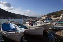 Boote in der Bucht Stockfoto