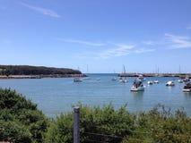 Boote in der Bucht Lizenzfreie Stockfotografie