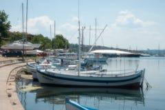 Boote in der Bucht von Sozopol Lizenzfreie Stockfotografie