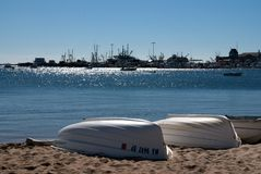 Boote an der Cape Codküste stockbild