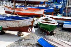 Boote der Fischer s in Süd-Italien stockfotos