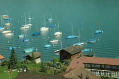 Boote in der Schweiz stockbild
