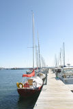Boote am Dock stockbild