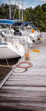 Boote am Dock Stockfoto