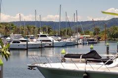 Boote in einem Hafen stockfoto