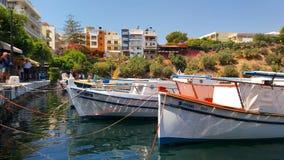Boote in einem Jachthafen Lizenzfreies Stockfoto