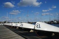 Boote in einer Reihe Lizenzfreies Stockbild