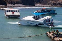 Boote Fernando Noronha Brazil Lizenzfreie Stockbilder