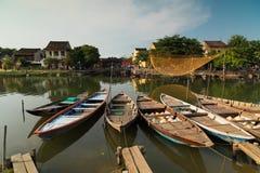 Boote, Hoi An-Stadt, Vietnam Stockfotos