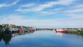 Boote in Howth Stockfoto