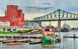 Boote im alten Hafen von Montreal, Kanada Stockfoto