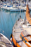 Boote im Hafen Stockbild