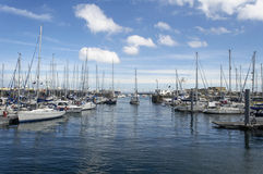 Boote im Hafen Stockfoto