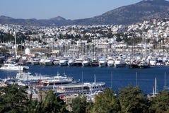 Boote im Jachthafen Lizenzfreie Stockfotos