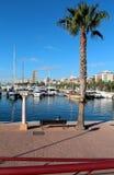 Boote im Jachthafen, Alicante, Spanien Lizenzfreies Stockbild
