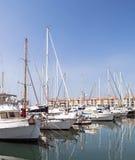 Boote im Kanal von Gibraltar Lizenzfreie Stockfotografie