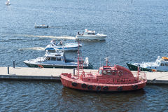 Boote im Kotka Stockfoto