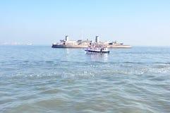 Boote im Meer Lizenzfreie Stockbilder
