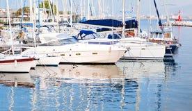 Boote im Meer von Neapel Lizenzfreie Stockfotos