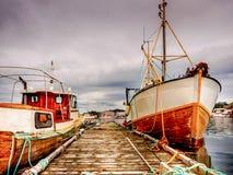 Boote im Ruhezustand im Westen Lizenzfreie Stockbilder