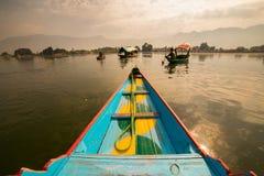 Boote im See Dal Kashmir Lizenzfreies Stockbild