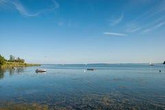 Boote im Wasser Lizenzfreie Stockfotografie