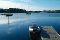 Boote im Wasser Lizenzfreies Stockfoto