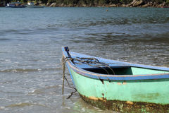 Boote im Wasser Stockbild