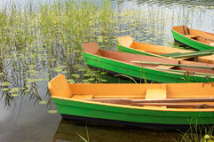 Boote im Wasser Lizenzfreies Stockbild