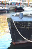 Boote im Wasser am Nyhavn-Kanal Lizenzfreies Stockfoto