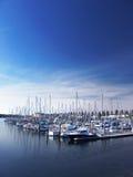 Boote am Jachthafen Lizenzfreies Stockbild