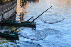 Boote am Kai Stockbild