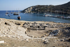 Boote in Knidos, Mugla, die Türkei Lizenzfreies Stockbild