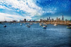 Boote in Melbourne Stockfotos