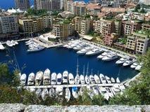 Boote in Monte Carlo Lizenzfreies Stockfoto