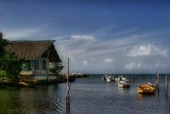 Boote nähern sich Guardalavaca-2 Lizenzfreie Stockfotos