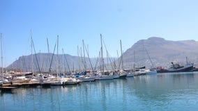 Boote nahe dem Hafen Lizenzfreies Stockfoto