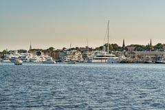 Boote in Newport, Rhode Island stockfotografie