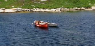Boote in Nova Scotia Stockfotografie