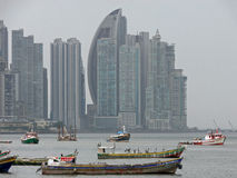 Boote in Panama-Stadt Lizenzfreies Stockfoto